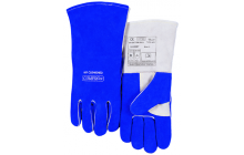 Kék vállas hasított marhabőrből készült hegesztőkesztyű COMFOflex® béléssel