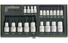 Torx készlet 23 R TX8-TX60 E4-E18 1/4&quot-1/2&quot