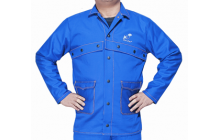Fire Fox™ kék, égésálló pamut hegesztőkabát