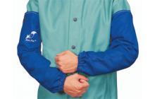 Fire Fox™ kék, égésálló pamut hegesztő karvédő (párban)