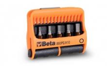 Beta 860PE/A10 10 csavarhúzóbetét és mágneses betéttartó